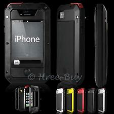 Gorilla Glass Aluminum Metal Shock/Water Proof Hybrid Case Cover Fr iPhone 4 4S