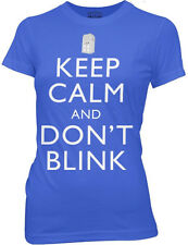New Dr Who Keep Calm And Don't Blink Womans T Shirt Science Fiction TV Movie