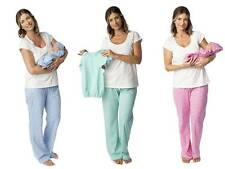 Maternity Nursing Pajamas Pregnancy and Matching Baby Romper Set