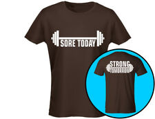 Sore Today Strong Tomorrow Gym Workout Womens Weightlifting T-Shirt (12 Colours)