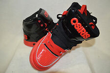 Osiris Boy's Crooklyn Red / Black Skate Shoes - Size 4.5 / 6