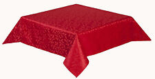 50 x 70 inch oblong Tablecloth Polyester satin leaf design Easy care, 6 colours.
