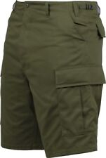 Mens Olive Drab Military BDU Cargo Shorts