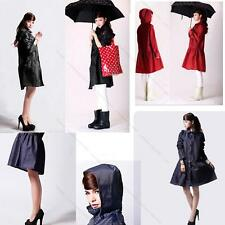Polka Dot Hiking Travel Women #R Waterproof slicker Clothes Raincoat Poncho