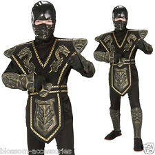 CK326 Gold Dragon Ninja Warrior Boys Child Kids Fancy Dress Up Costume Outfit