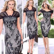 BIG SALE Sexy Lace Party Cocktail Evening Women Pencil Slim Work Bodycon Dress t