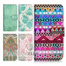 S207 Aztec Damask Star Flip Case Cover iPhone 4 5 6 Samsung Note S HTC Sony