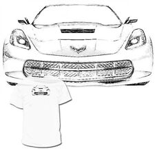 C7 Front Corvette Drawing T shirt  C6 C5 C4 Drawings Are Available