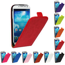Magnetic Closure Flip Crazy Horse PU Leather case cover skin for Samsung