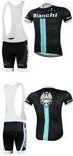 bianchi Cycling Clothing Jersey & Bib Pants Kit Sets Coolmax Padding A132