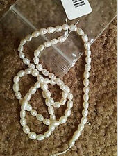 15'' White Real Pearl Freshwater BEAD Natural Round Loose Beads 4/5/6/7/8/9/10mm