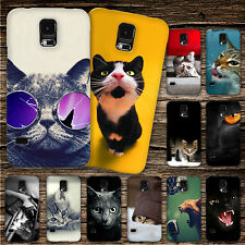 "KAMGO - Design ""CAT"" Handy Hülle Samsung - Hard Case Etui Cover Kitty Katze"