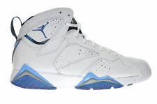 "Air Jordan 7 Retro ""French Blue"" Men's Shoes White-Blue-Flint Grey 304775-107"