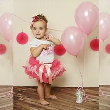 Toddler Baby Girls Flower Dress GIRL Birthday Top Tee+Tutu Skirt Outfits Party