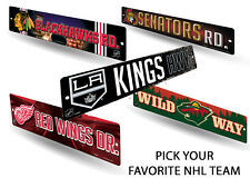 "NHL Teams - Officially Licensed 16"" Hockey Street Sign Man Cave Wall Decor"