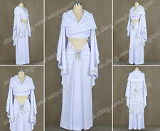 Star Wars Cosplay Padme Amidala Costume White Suit Cloak Sexy Luxury Dress Cool