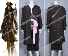 Pirates Of The Caribbean Cosplay Captain Jack Sparrow Costume Outfit Halloween