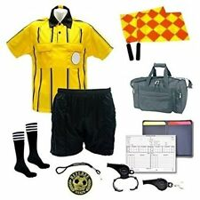 Referee 12 Piece Soccer Package Jersey Short Socks Cards Flag Whistles Duffel