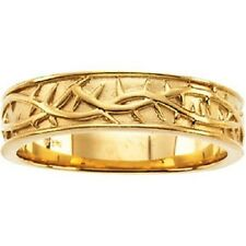 Sterling Silver,14K White or Yellow Gold Crown of Thorns Duo Band Ring SIZE 10
