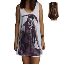 Lone Ranger Johnny Depp Vest Tank-Top Singlet (Dress T-Shirt) Sizes S M L XL
