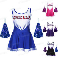 1 Piece Fancy dress COSTUME OUTFIT SCHOOL CHEER GIRL UNIFORM cheer leader girls