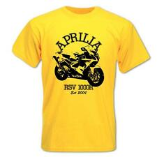 Mens T Shirt Featuring A picture Of APRILIA RSV 1000R Motorcycle Petrolhead