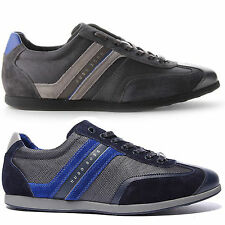 Hugo Boss Mens Stiven Navy Or Charcoal Lace Up Casual Sneakers Shoes Kicks