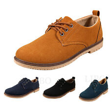 Men casual fashion Suede boat Shoes boy sports Moccasin Loafers Sneakers lace up
