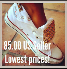 Womens Studded  Converse Chuck Taylor All Stars Studded Shoes 5,6,7,8,9,10,11,12