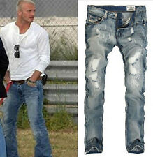 2015 New Men's Stylish Designed Straight Slim Fit Trousers Casual Jeans Pants