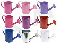 METAL MINI COLOURED WATERING CANS WEDDING FAVOURS PARTY GIFTS TABLE DECORATIONS