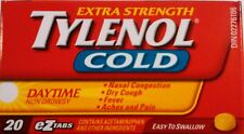 Tylenol Cold Daytime 20 eZ Tabs Nasal Congestion, Dry Cough, Fever, Aches&Pain
