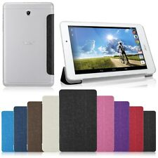 "Front Leather + Clear Matte Back Stand Case For Acer Iconia A1-840 8"" Tablet"