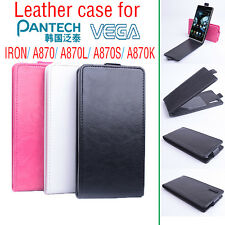 Fashion Leather Flip Case Cover for Pantech Vega Iron A870 Smartphone 3 Colors