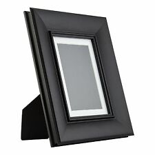 Verandah Table-Top 5x7 Vintage Black Standing Picture Frame with Mat
