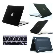 """Matt Hard Frosted Case+ Keyboard Cover for Macbook Pro 13 15""""/ Air 11"""" Black"""