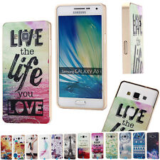 Aluminum Metal Frame + Painted PC Back Cover Case For Samsung Galaxy A3/A5/A7