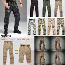 Men Outdoor Water Repellent Quick Drying Hiking Trousers Detachable Casual Pants