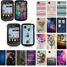 For LG 306G 305C Design Slim Fit Hard Phone Case Cover
