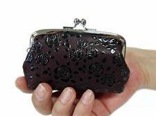 "Women Leather Coin Purse Japanese Style Gamaguchi ""INDEN 1103"" Traditional Craft"