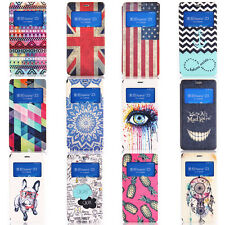 Painted Pattern Window View Flip Leather Stand Cover Case For Sony Xperia Z2 Z3