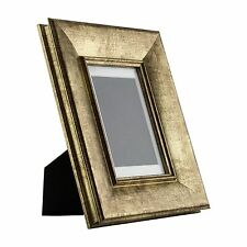 Verandah Table-Top 4x6 Vintage Aged Gold Standing Picture Frame with Mat