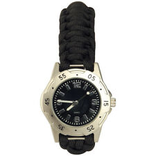 Tactical Paracord Mens Watch Bracelet Wristband Emergency Survival Hiking Silver