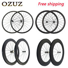 700C 50mm clincher bike carbon road bicycle wheels carbon wheelset
