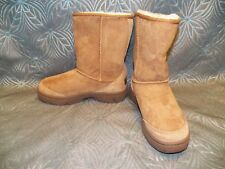 NEW Womens UGG Australia Ultimate Short Chestnut Sheepskin Suede Winter Boots