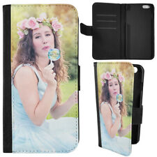 PERSONALISED PHOTO LEATHER CASE COVER FOR IPHONE 7 6S 4.7 GALAXY S6 S7 Z5 S8