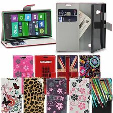 Designer Wallet Flip Floral Book Style PU Leather Case Cover for Nokia Lumia 535