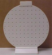 "INJECTED MOLDED WHITE PLASTIC PEG BOARD(12"")     7287C"