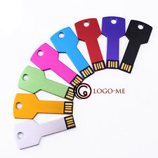 10PCS USB Metal Key Flash Pen Drive Memory Thumb Stick 1MB 1GB 2GB 4GB 8GB 16GB