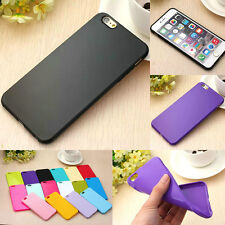 Ultra Thin Candy TPU Silicone Rubber Soft Case Cover For iPhone 4 5S 5C 6/6 Plus